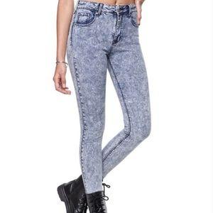 Acid wash Topshop jeans